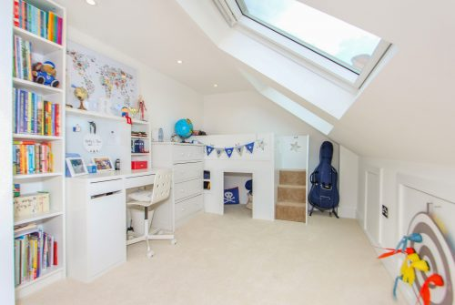Extra kids bedroom in loft extension