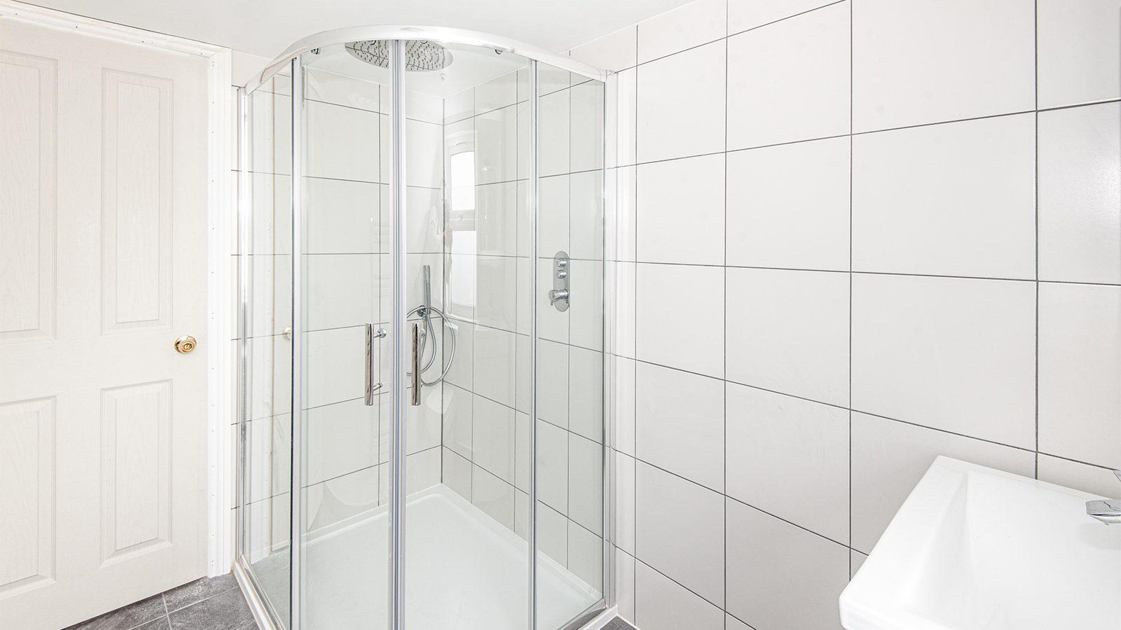 shower only loft conversion bathroom